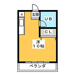 ウイングルートI[1階]の間取り