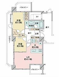 ディークラディア茅ヶ崎28CS[2階]の間取り