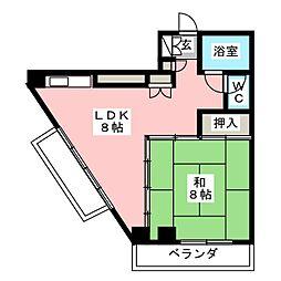 コンフォルム八幡[2階]の間取り