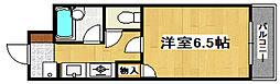 JR加古川線 社町駅 バス10分 松沢下車 徒歩10分の賃貸マンション 3階1Kの間取り