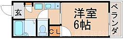 広島県広島市東区温品5丁目の賃貸アパートの間取り