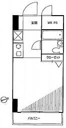 扶桑ハイツ田端[2階号室]の間取り