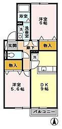 東京都立川市西砂町1丁目の賃貸アパートの間取り