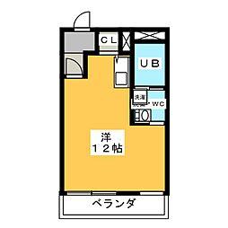 メゾン天子田[3階]の間取り