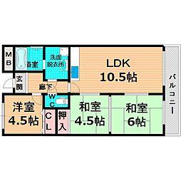 Osaka Metro長堀鶴見緑地線 鶴見緑地駅 徒歩26分の賃貸マンション 1階3LDKの間取り