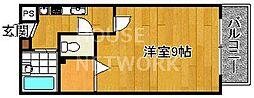 トラスト茶山[204号室号室]の間取り
