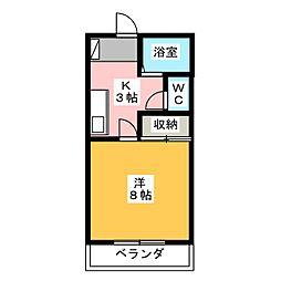 ウッディハイツII[2階]の間取り