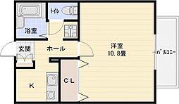 ソレアード1[2階]の間取り