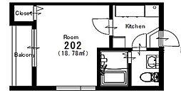 ポルテ星宮[2階]の間取り