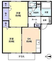 グレーテル大和田[1階]の間取り