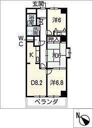 サニーコート矢田[3階]の間取り