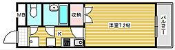 アルファ帝塚山[3階]の間取り