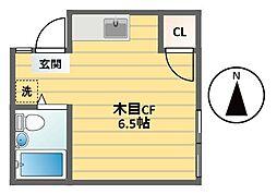 ハイムぷれりゅうど[206号室]の間取り