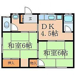 下迫アパート[2階]の間取り