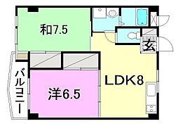 ビージョイマンション5号館[902 号室号室]の間取り