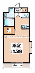 ロータリーマンション長田東[6階]の間取り