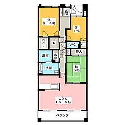 プライムガーデン日進壱番館 507号[5階]の間取り