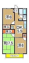 パールハイツ岩井35[2階]の間取り