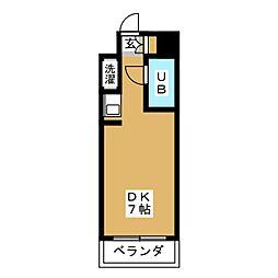 ラフィネ杁中[9階]の間取り