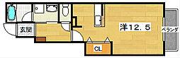 エトワールバレー1[1階]の間取り
