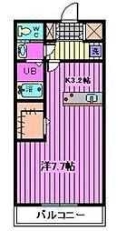 パームコテージVII番館[2階]の間取り