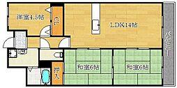 若園11番館[2階]の間取り