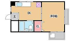 兵庫県西宮市小松南町3丁目の賃貸マンションの間取り