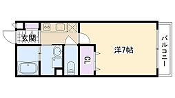 兵庫県西宮市室川町の賃貸アパートの間取り