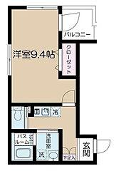 JR埼京線 北赤羽駅 徒歩4分の賃貸マンション 1階1Kの間取り