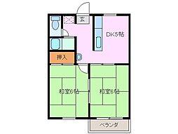 ハイツアーバンI[2階]の間取り