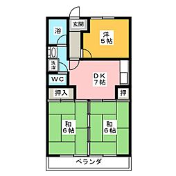 平子台マンション[2階]の間取り