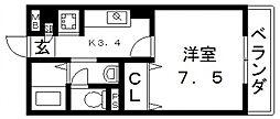 エクレール上小阪[303号室号室]の間取り