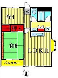 サンライトシーマ[3A号室]の間取り