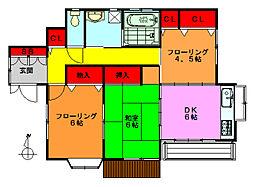[一戸建] 埼玉県草加市吉町3丁目 の賃貸【埼玉県 / 草加市】の間取り