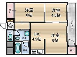 マルビシマンション[6階]の間取り