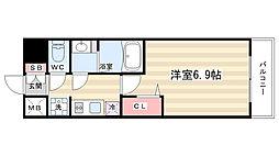 プレサンスTHEKYOTO 華苑 1階1Kの間取り