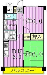 渡辺マンション[3階]の間取り