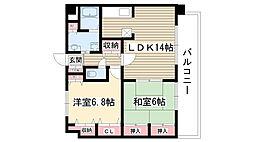アモール喜多山[303号室]の間取り
