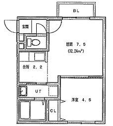 仮)北14条東1丁目MS[406号室]の間取り