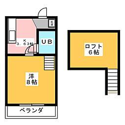 リバティータウンS[1階]の間取り