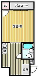 シティハイツ住之江公園[5階]の間取り