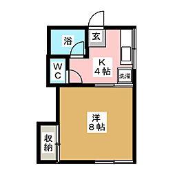 コーポ8[1階]の間取り