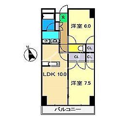 カーサM1[5階]の間取り