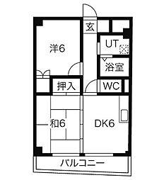 ハウスアベニュー[9階]の間取り