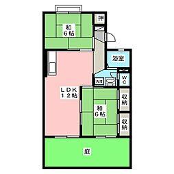 ハイツNINOWARI A棟[1階]の間取り