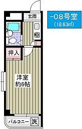 パシフィック大正駅前[508号室]の間取り