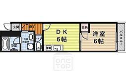 京都府京都市中京区下瓦町の賃貸アパートの間取り
