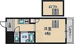 プレサージュ江坂2[2階]の間取り
