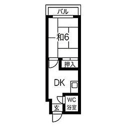 プレアール関目II[3階]の間取り
