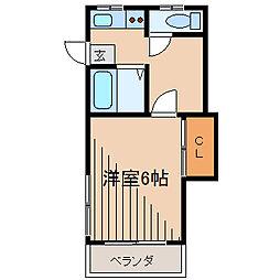 コーポエクセル[1階]の間取り